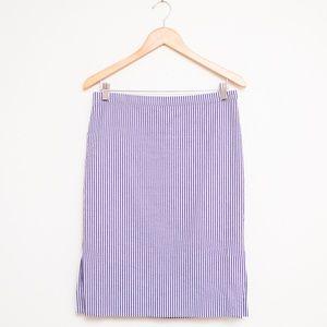 J Crew Seersucker Stripe Pencil Skirt